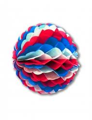 Bolo de papel alveolado azul -blanco-rojo 25 cm
