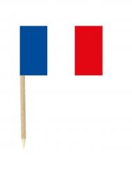 Lote de 50 mini banderas con palillos Francia