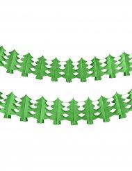 Guirlanda papel a prueba de fuego pino verde 4,5 m