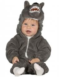 Disfraz lobo gris bebé