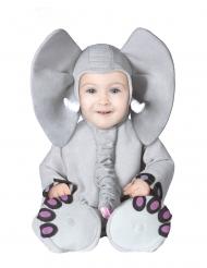 Disfraz elefante gris bebé