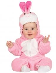 Disfraz conejo rosa bebé