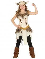 Disfraz vikinga beige niña