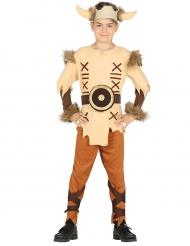 Disfraz vikingo beige niño
