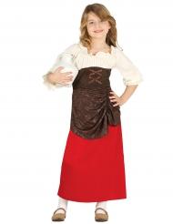 Disfraz de tabernera medieval niña