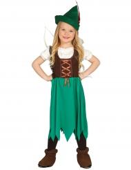Disfraz ladrona de los bosques niña