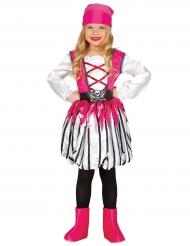 Disfraz pirata a rayas rosa niña