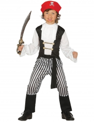 Disfraz pirata rayado niño