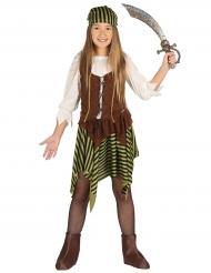 Disfraz miss pirata rayado niña