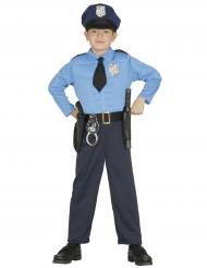 Disfraz policía musculoso niño
