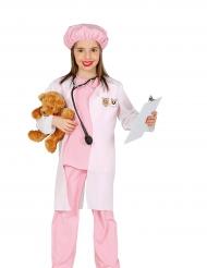 Disfraz veterinaria rosa niña