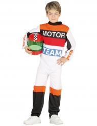Disfraz piloto de moto niño