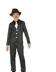Disfraz gangster rayado niño