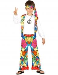 Disfraz hippie flores grandes niño