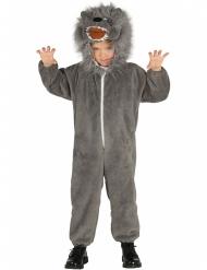 Disfraz lobo gris niño