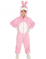 Disfraz conejo rosa con capucha niño