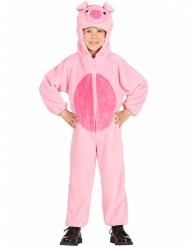 Disfraz cerdo rosa niño