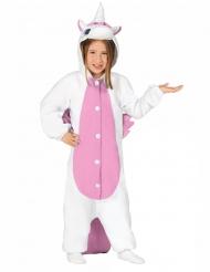 Mono unicornio blanco y rosa niña