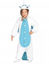 Traje unicornio blanco y azul niño
