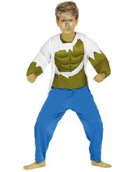 Disfraz músculos verdes para niño