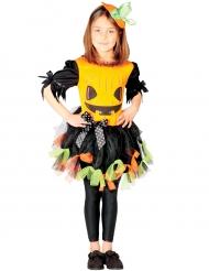 Disfraz calabaza en tul colorido niña Halloween