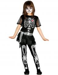 Disfraz shiny esqueleto niña Halloween