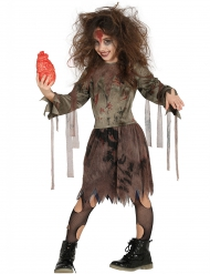 Disfraz zombie momificado niña Halloween