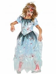 Disfraz zombie princesa azul niña Halloween