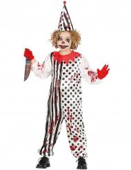 Disfraz zombie arlequín ensangrentado niño