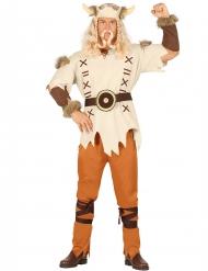 Disfraz vikingo beige hombre