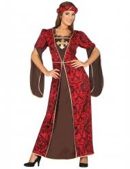 Disfraz cortesana medieval mujer