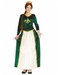 Disfraz princesa medieval verde mujer