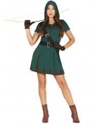 Disfraz arquero verde mujer