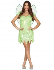 Disfraz de hada verde brillante mujer