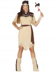 Disfraz india de ensueño beige mujer