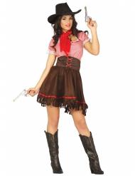 Disfraz cowgirl del Oeste mujer