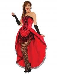 Disfraz Miss burlesca rojo mujer