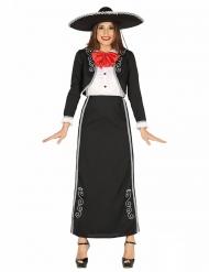 Disfraz mejicana largo mujer