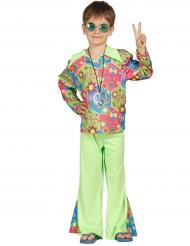 Disfraz hippie floreado para niño