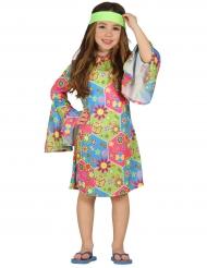 Disfraz hippie floreado para niña
