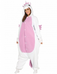 Disfraz unicornio blanco y rosa adulto