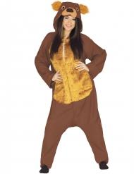 Disfraz de oso marrón adulto