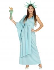 Disfraz estatua de la libertad mujer