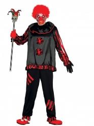 Disfraz payaso loco negro adulto
