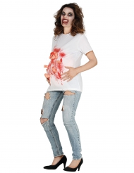 Camiseta mujer embarazada ensangrentada adulto Halloween