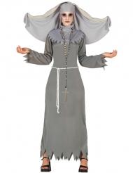 Disfraz religiosa poseída gris mujer Halloween