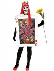 Disfraz baraja reina diamante esqueleto mujer Halloween