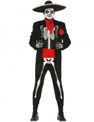 Disfraz esqueleto mexicano hombre Día de los muertos