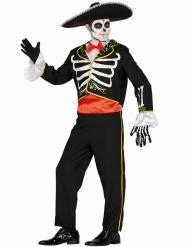 Disfraz mariachi esqueleto hombre Día de los muertos