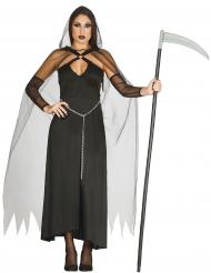 Disfraz segadora negro sexy mujer Halloween